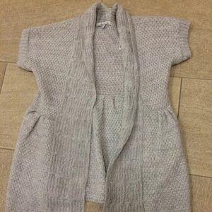 American Rag Short Sleeve Pintucked Open Cardigan
